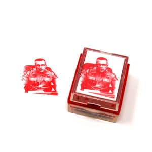 custom rubber stamp from photo