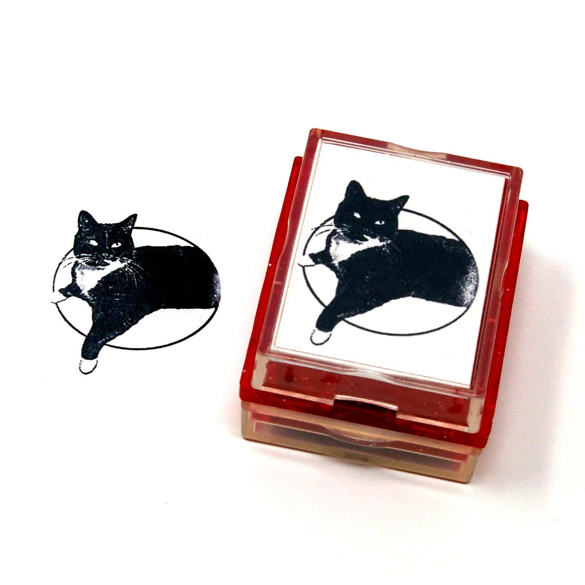 custom cat rubber stamp
