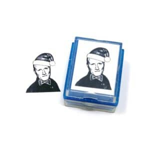 custom santa rubber stamp | face stamps