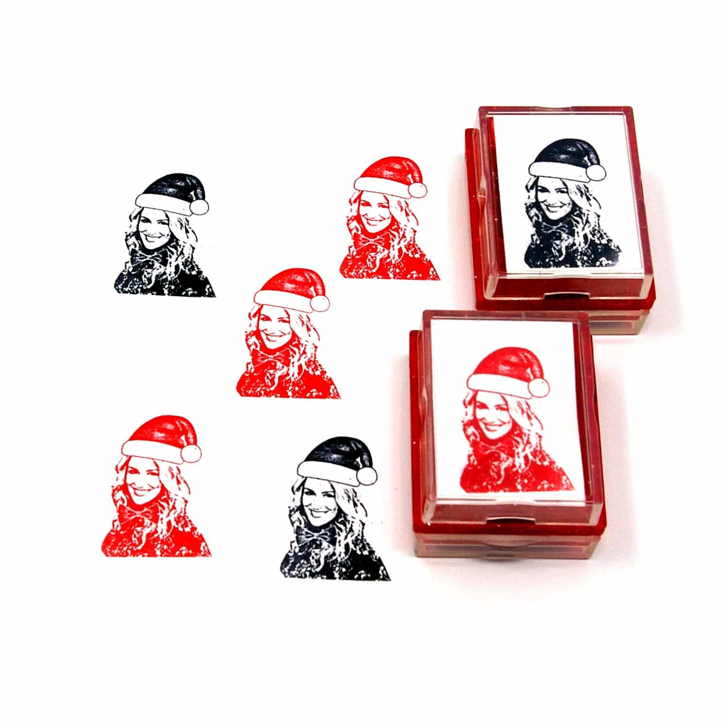 Custom christmas card rubber stamps