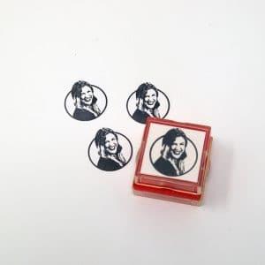 custom face rubber stamp