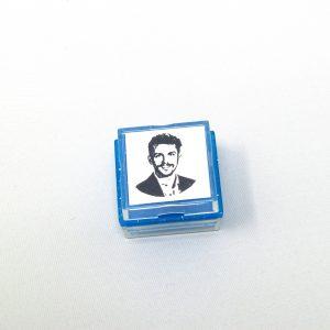 custom portrait rubber stamp
