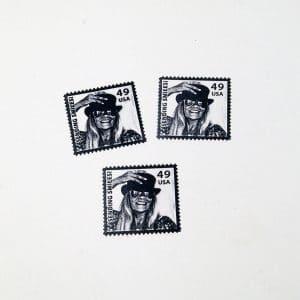 postage stamp rubber stamp